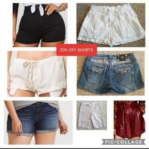 20% OFF SHORTS, men's and women's